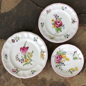 Spode vintage Marlborough Sprays 8 piece dish set